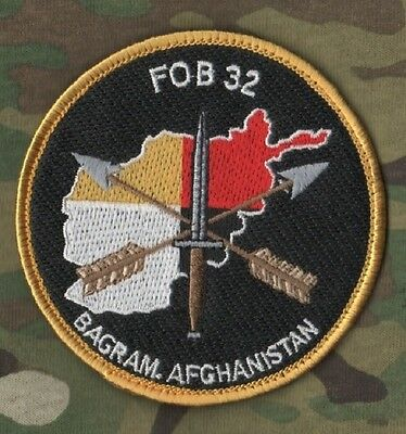 SPECIAL FORCES GROUP SFG DETACHMENT ODA TEAM INSIGNIA: FOB 32 Bagram Afghanistan