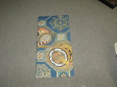 "Japanese Kimono Wall Hanging Scroll Tapestry Panel Made From Vintage Obi 10""x22"""