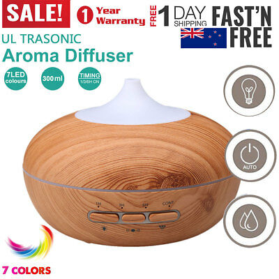 300ML Oil Aroma LED Ultrasonic Aromatherapy Diffuser Air Humidifier SPA Purifier