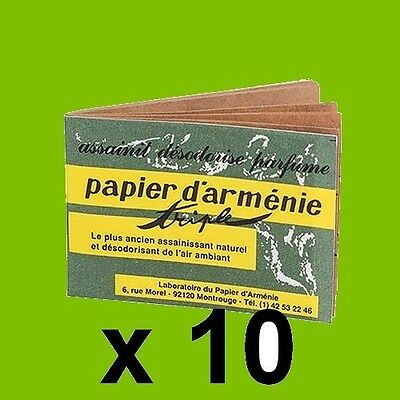 Lot 10 Carnets Veritable Papier D'armenie Desodorisant Naturel