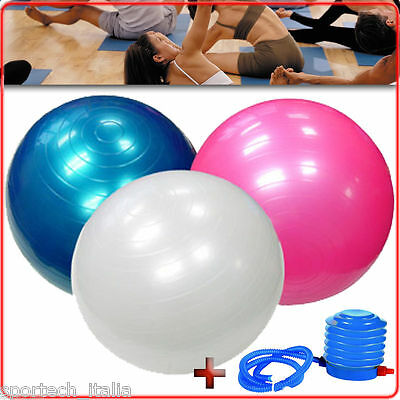 GYMBALL FISIOBALL GYM BALL 75cm PALLA PER ADDOMINALI YOGA PILATES PSICOMOTORIA
