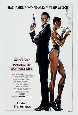 James Bond: * A View to a Kill  * Roger Moore USA  Movie Advance Poster 1985