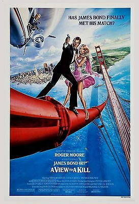 James Bond: * A View to a Kill  * Roger Moore USA  Movie Poster 1985