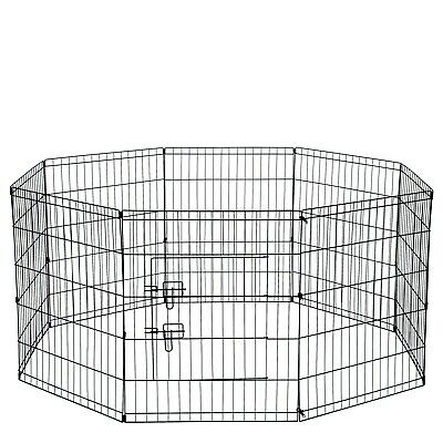 "OxGord 30"" Tall Wire Fence Pet Dog Folding Exercise Yard 8 Panel Metal Play-Pen"