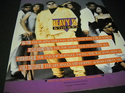 HEAVY D  & THE BOYZ are Big Tyme 1989 PROMO POSTER AD mint condition