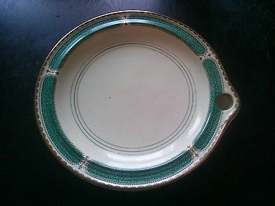 Vintage Collectible Ribstone Ware Booths Warming Plate Dish Ceramic Gold Trim