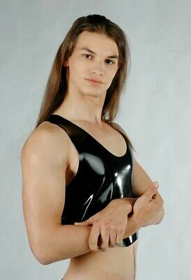 Fetish Bondage Rubber Latex Muscle T Shirt Tee 2110 Gay Gimp Catsuit Sexy