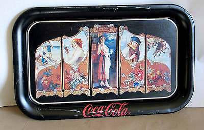 Coca Cola Advertising Tray 1923 Repro Screen The Year Round Drink Four Seasons