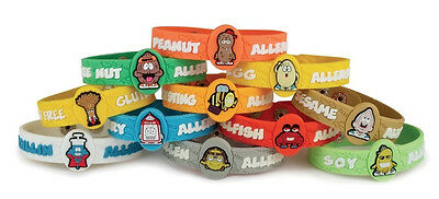 Child AllerMates Allergy Medical Silicone Wristbands-Asthma-Wheat-Latex- Dairy