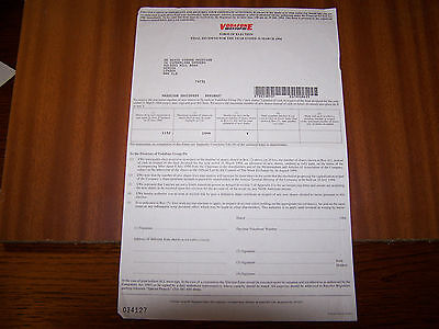 VODAFONE FORM OF ELECTION RARE ITEM DATED 19941152 SHARES INVALID CERTIFICATE