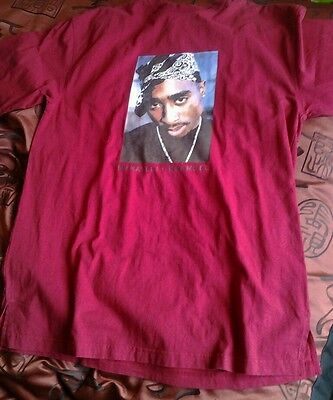 Men's Makaveli branded maroon t shirt sz xl pre owned