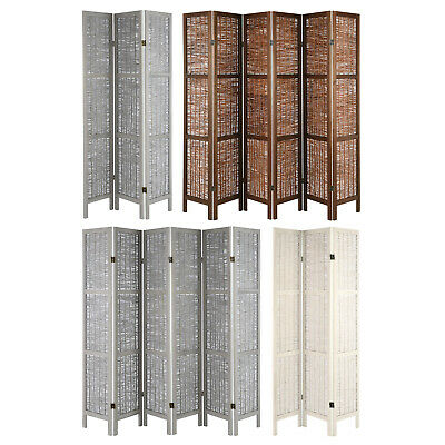 Wooden Framed Wicker Room Divider Privacy Screen/Partition Shabby Chic Vintage