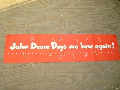 "Old 47"" John Deere Tractor Paper Poster Sign Sales Display Bc662"