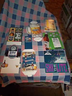 7 Miller Lite Signs Some Sports Related  Super Bowl Video Sign is 7 Inch High