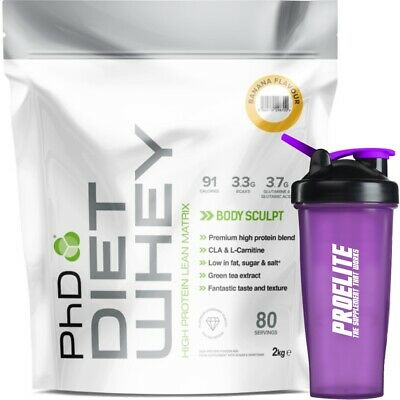 PhD Nutrition Diet Whey Protein 2Kg Meal Replacement Weight Loss Shake + Shaker