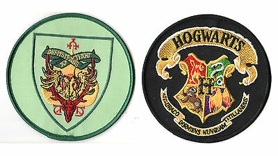 HARRY POTTER TRIWIZARD TOURNAMENT HOGWARTS SCHOOL + DRUMSTRANG INSTITUTE 2-PATCH