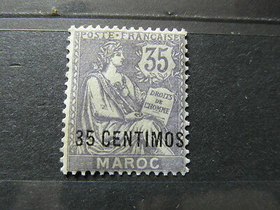 STAMP TIMBRE MAROC MOROCCO Nr 24 ** surcharge overloaded 35 centimos (2)