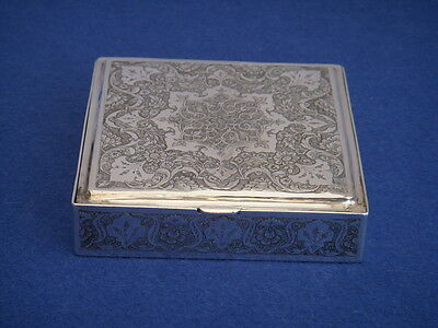 QUALITY DETAILED PERSIAN SOLID SILVER BOX  Cigarette box  Islamic Middle Eastern