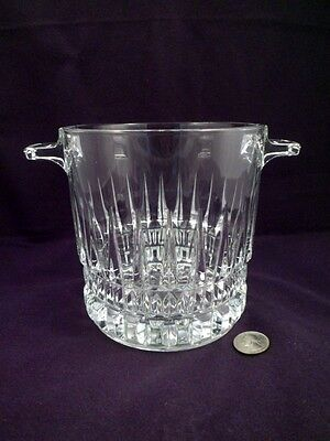 French Heavy Crystal Wine, Ice Bucket with Handles, Over 2 1/2 Lbs