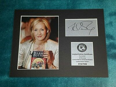 JK Rowling ( Harry Potter ) Signed Autograph Display Mount