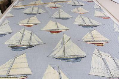 Sailing Linen Blue  140 cm Wide Curtain//Craft//Upholstery Fabric