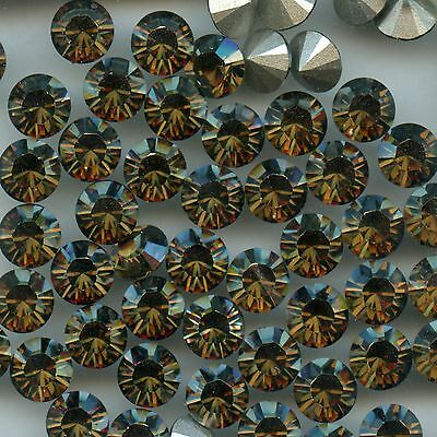 1028 SS34 BS *** 12 Strass Swarovski  fond conique 7,2mm CRYSTAL BRONZE SHADE F