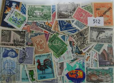 Finland 200 stamps. (512)