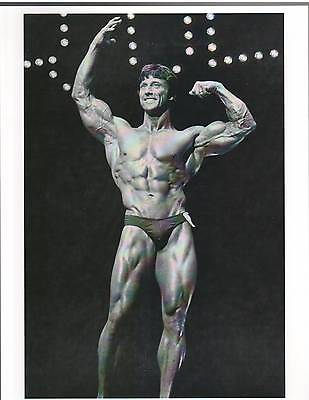 FRANK ZANE  3x Mr Olympia /Mr World /Mr Universe Muscle Photo B+W