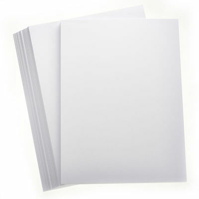 20  x A4 smooth 400gsm heavy & thick white craft card Ideal for covers & models