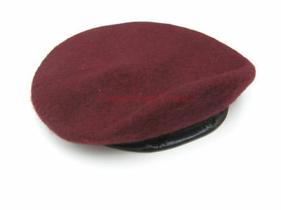 NEW Small 55cm - 56cm Maroon Beret (Airborne Para Army