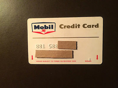 Mobil Oil Company 1963 Vintage Collectors Credit Card - Classic Logo