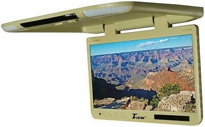 "Tview T257IRTAN 25"" TFT Flipdown Monitor Built In Ir Remote Light Tan"