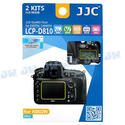 JJC  LCD Guard Film Camera Screen Display Protector Cover for Nikon D810 D810A