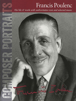 Composer Portraits Francis Poulenc Classical Solo Piano Sheet Music Book