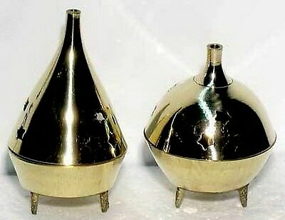 1 x BRASS INCENSE BURNER FOR CONES STICKS Wicca Pagan Witch Goth Punk Herb Spell