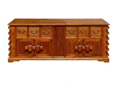 Chinese Rustic Look TV Entertainment Stand Cabinet , Low Cabinet WK1578