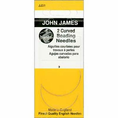 Two Size 10 Curved John James English Beading Needles