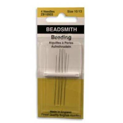 Four Assorted Size 10 to Size 13 Beadsmith/John James English Beading Needles