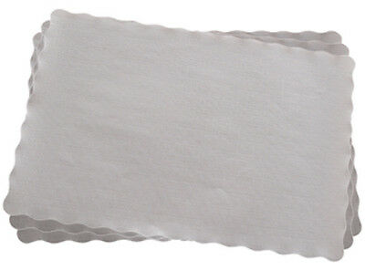 "100 x White Rectangular Tray/Placemat Papers 9""x14.5"" (23cmx37cm) Doilies"