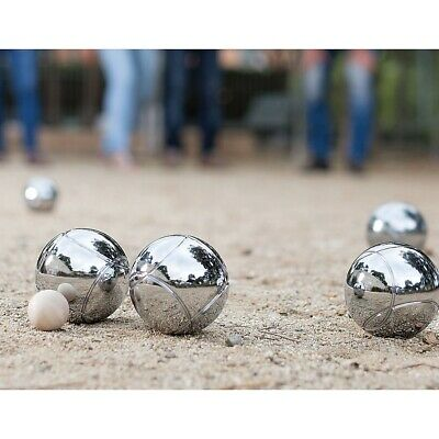 Deluxe Boule 8 Alloy Ball Set in Green Canvas Boules Bocce