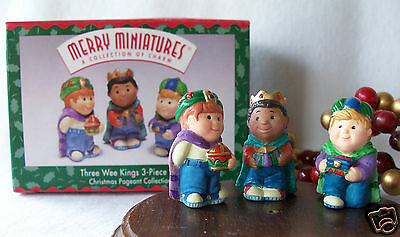 Hallmark Merry Miniatures 1997 Three Wee Kings Christmas Pageant Collection