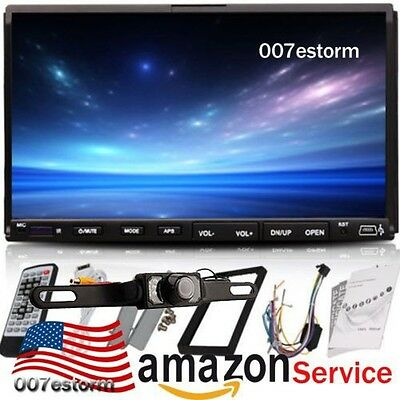 """HD Double Din 7"""" Car DVD MP3 Player Touch Screen Stereo Radio RDS USB/SD+Camera"""
