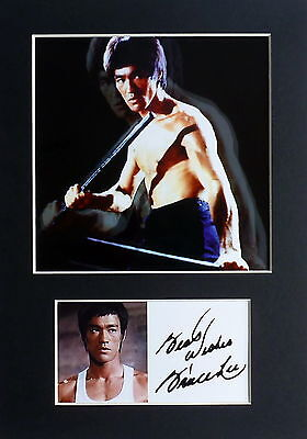 Bruce Lee Signed Mounted Photo Display , Kung Fu Movies