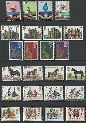 GB 1978 complete commemorative sets of stamps unmounted mint 6 sets