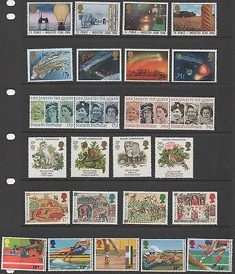 GB 1986 complete commemorative sets of stamps unmounted mint 10 sets