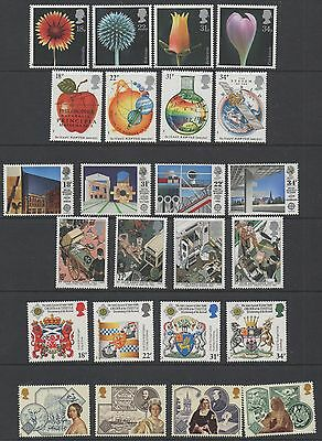 GB 1987 complete commemorative sets of stamps unmounted mint 8 sets