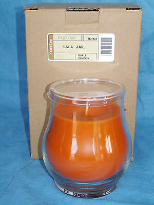 MAPLE PUMPKIN 14oz Tall Jar CANDLE Longaberger USA NEW burn time 70 hrs