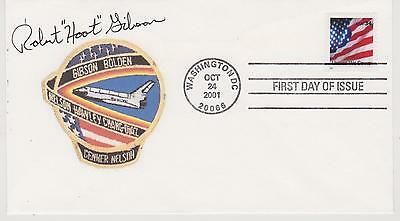 "Signed Robert ""Hoot"" Gibson Fdc Autographed First Day Cover Nasa Astronaut"