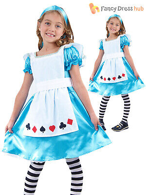 Girls Alice Costume World Book Week Day Child Kids Story Character Fancy Dress