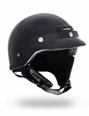 Black Motorcycle Cruiser Helmet For Larger Oversized Up To 5Xl Plus Size 3Xl 4Xl